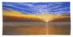 Evening Splash Beach Towel