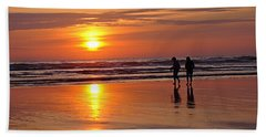 Beach Towel featuring the photograph Evening Stroll by Nick Kloepping