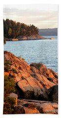 Evening Sun By The Waterfront Beach Towel