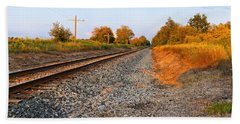 Evening Tracks Beach Towel