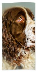 Ever Watchful English Springer Spaniel Beach Towel