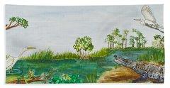 Everglades Critters Beach Towel