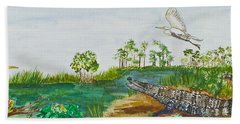 Everglades Critters Beach Towel