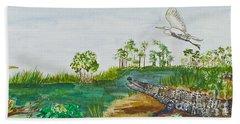 Everglades Critters Beach Sheet