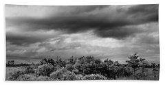 Everglades Storm Bw Beach Sheet