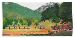 Evergreen Lake Spring Beach Towel