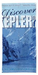Exoplanet 02 Travel Poster Kepler 22b Beach Towel