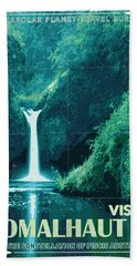Exoplanet 04 Travel Poster Fomalhaut B Beach Towel