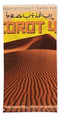 Exoplanet 05 Travel Poster Corot 4 Beach Towel