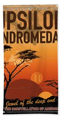 Exoplanet 06 Travel Poster Upsilon Andromedae 4 Beach Towel
