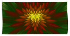 Exotic Christmas Flower Beach Sheet
