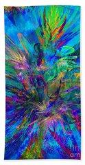 Exotic Dream Flower Beach Towel by Klara Acel