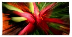Beach Towel featuring the photograph Exploding Lily by Andrea Platt