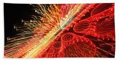 Exploding Neon Beach Towel