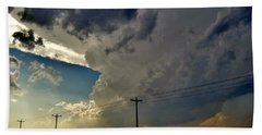 Explosive Texas Supercell Beach Towel by Ed Sweeney