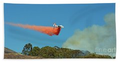 Beach Towel featuring the photograph Extinguishing The Fire On San Bruno Mountain Near San Francisco II by Jim Fitzpatrick