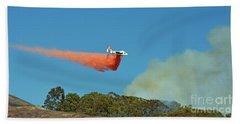 Extinguishing The Fire On San Bruno Mountain Near San Francisco II Beach Sheet by Jim Fitzpatrick