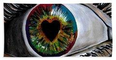 Eye Love You Beach Towel