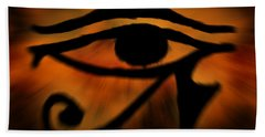 Eye Of Horus Eye Of Ra Beach Sheet