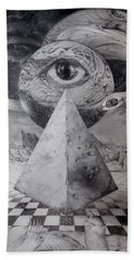 Eye Of The Dark Star - Journey Through The Wormhole Beach Towel