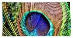 Eye Of The Feather Beach Towel
