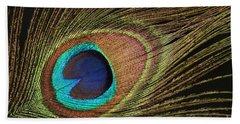 Eye Of The Peacock #5 Beach Towel