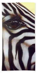 Beach Sheet featuring the painting Eye Of The Zebra by Darren Robinson
