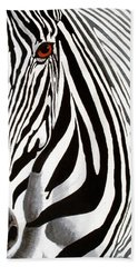Eye Of The Zebra Beach Towel