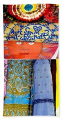 Beach Sheet featuring the photograph New Orleans Eye See Fabric In Lifestyles by Michael Hoard