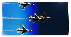 Beach Sheet featuring the photograph F16 Flight Into Space by DigiArt Diaries by Vicky B Fuller