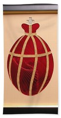 Beach Towel featuring the mixed media Faberge Egg 2 by Ron Davidson