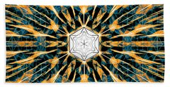 Beach Towel featuring the drawing Fabric Of The Universe by Derek Gedney