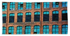 Factory Windows Beach Towel