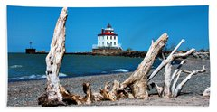 Beach Towel featuring the photograph Fairport Harbor Lighthouse 2 by Michelle Joseph-Long