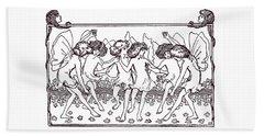 Fairy Illustration From 1896 Beach Towel