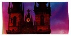 Fairy Tale Castle Prague Beach Sheet