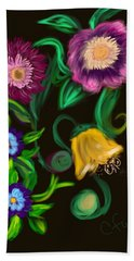 Fairy Tale Flowers Beach Towel by Christine Fournier