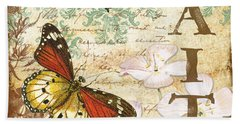 Faith And Butterflies Beach Sheet