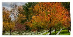 Fall Arlington National Cemetery  Beach Towel