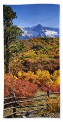 Fall At Dallas Divide Beach Towel by Priscilla Burgers