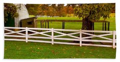 Fall At Eisenhower Farm Beach Towel by Amazing Photographs AKA Christian Wilson