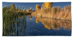 Fall At The Canal Beach Towel