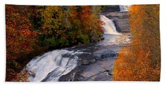 Fall At Triple Falls Beach Towel