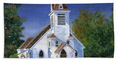 Fall Church Beach Towel
