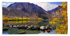 Fall Colors At Convict Lake  Beach Towel