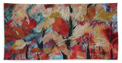 Beach Towel featuring the painting Fall Colors by Avonelle Kelsey