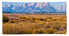 Fall Colors In The Tetons   Beach Towel