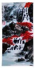 Fall Colors Beach Towel by Yufeng Wang