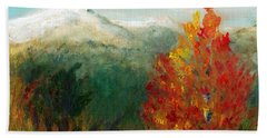 Beach Towel featuring the painting Fall Day Too by C Sitton