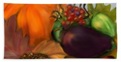 Fall Festival Beach Towel by Christine Fournier